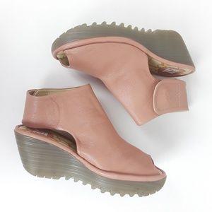 Fly London   Yone Platform Wedge Sandal   Blush